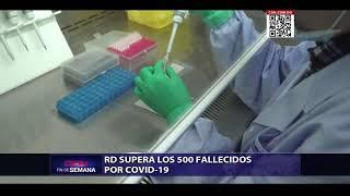 RD supera los 500 fallecidos por Covid-19