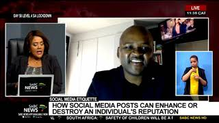 How social media posts can enhance or destroy an individual