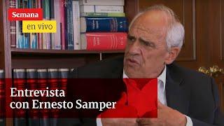 En entrevista con María Jimena Duzán, el expresidente Ernesto Samper.