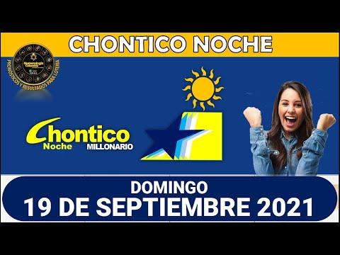Resultado CHONTICO NOCHE del domingo 19 de septiembre de 2021
