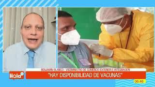 Gobierno anuncia llegada de más vacunas y oxígenos para el país