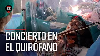 Una mujer tocó el violín mientras era operada - El Espectador
