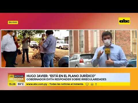 Hugo Javier reaparece y evita responder sobre irregularidades