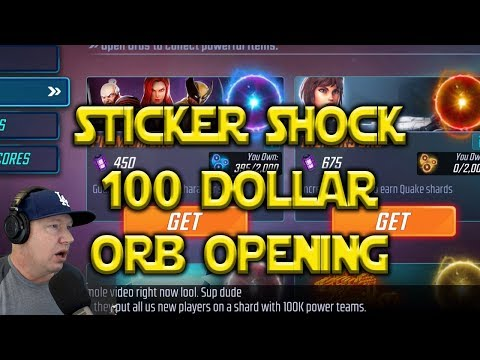 $100 ORB Openings - Is The $9.99 Captain America Pack Worth It? | Marvel Strike Force