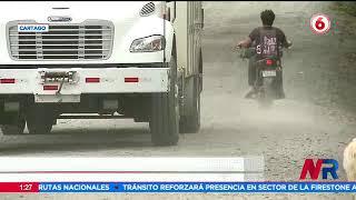 Nube de polvo afecta a vecinos en Cartago