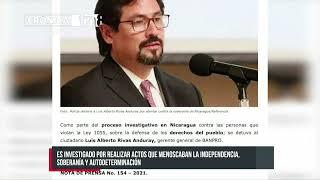 Policía detiene a Luis Alberto Rivas Anduray por atentar contra la soberanía de Nicaragua