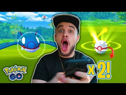 connectYoutube - *INSANE* BACK TO BACK CRITICAL CATCHES ON KYOGRE IN POKEMON GO! + CATCHING NEW SHINY POKEMON!