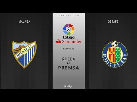 Rueda de prensa Málaga vs Getafe