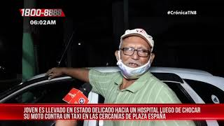 Managua: Motociclista resulta grave tras impactar contra un taxi – Nicaragua