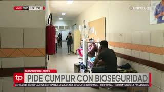Director del Sedes pide a la población cumplir con medidas de bioseguridad para evitar contagios