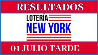 Resultados de la Lotería New York Tarde de hoy 01 de Julio del 2020