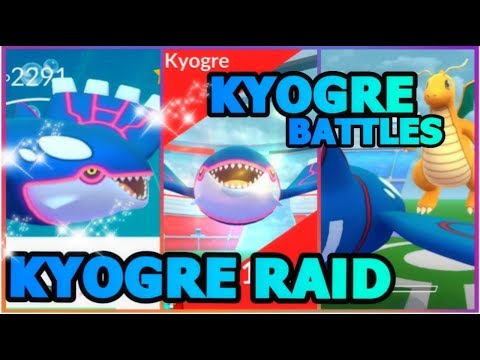 connectYoutube - FIRST KYOGRE RAID IN POKEMON GO   KYOGRE GYM BATTLES   KYOGRE IN SNOWY WEATHER W/ BLIZZARD