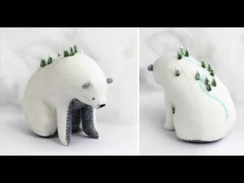 connectYoutube - Amazing Felted Bears Carry Tiny Worlds On Their Shoulders|Felted Bears