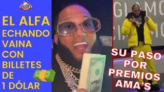 El Alfa DIQUE ECHANDO VAINA en club de Miami, pero puro lanzando billetes de 1 dólar
