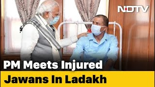 "PM Modi Visits Injured Soldiers In Ladakh, Praises ""Karara Jawab"" - NDTV"