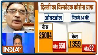 Delhi का कोरोना मीटर इतना तेज क्यों भाग रहा? जानें AIIMS के डॉ डी के शर्मा से - INDIATV