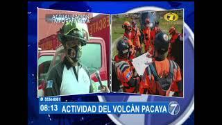 Bomberos Voluntarios viajarán al Volcán de Pacaya para evaluar daños