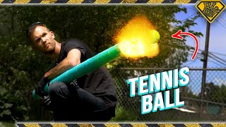 EXPLOSIVE Tennis Ball CANNON