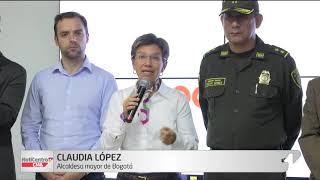 Cinco capturas durante jornada de protestas en Bogotá