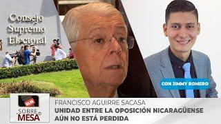Unidad entre la oposición nicaragüense aún no está perdida afirma Francisco Aguirre Sacada
