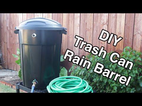 DIY Trash Can Rain Barrel