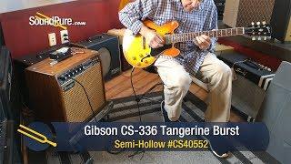 Gibson CS 336 Tangerine Burst Semi Hollow #CS40552 - Quick 'n' Dirty