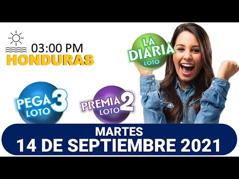 Sorteo 03 PM Loto Honduras, La Diaria, Pega 3, Premia 2, MARTES 14 de septiembre 2021  