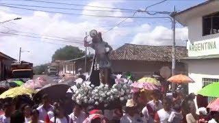 Feligresía católica de Acoyapa participa en la bajada de San Sebastián