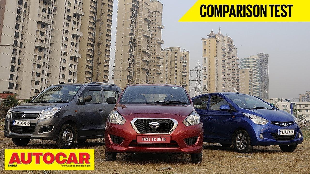 Datsun Go Vs Hyundai Eon Vs Maruti Wagon R | Comparison Test - Hyundai Videos