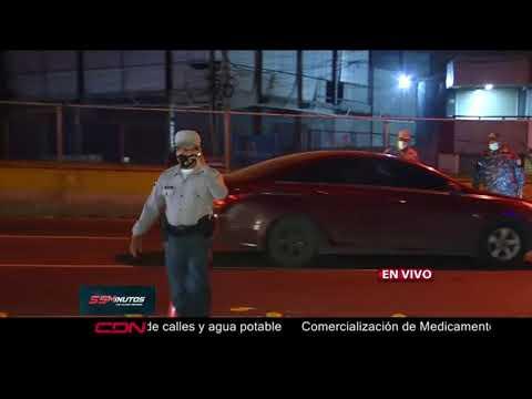 Autoridades realizan reten en Kilómetro 9 por toque de queda