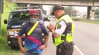 La Policía de Tránsito hizo un barrido y decomisó decenas de bicicletas este sábado