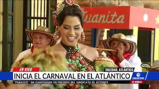 La reina del Carnaval estuvo en Soledad, Atlántico, en la popular ruta de la tradición