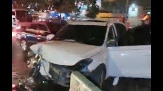 Accidente de tránsito sobre la Calzada roosevelt