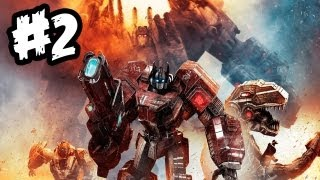 Transformers Fall of Cybertron - Gameplay Walkthrough - Part 2 - OPTIMUS PRIME!! (Xbox 360/PS3/PC)