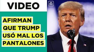 ¿Pantalón al revés Afirman que Trump usó mal los pantalones