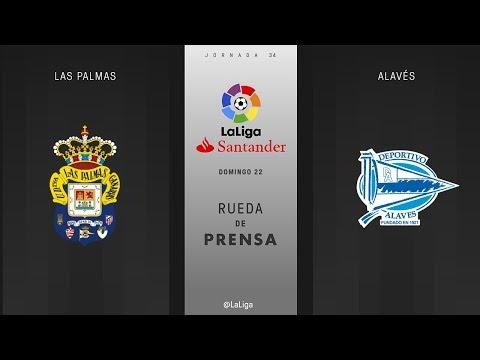 Rueda de  prensa Las Palmas vs Alavés
