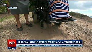 Municipalidad incumple orden de la sala constitucional