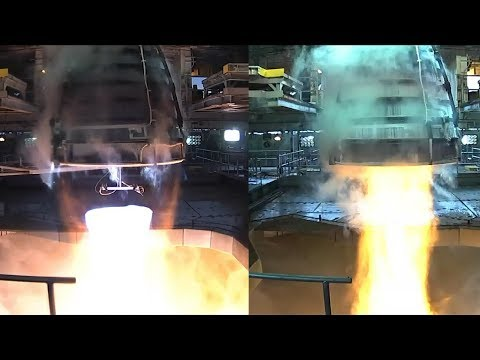 SLS RS-25 Engine Test, 16 January 2018