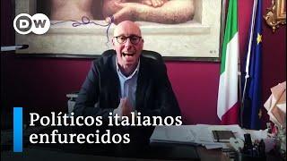 Governadores e prefeitos italianos enfurecidos com a população por não respeitarem a quarentena