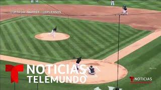 Fuerte batazo accidental de Stanton a Tanaka | Noticias Telemundo