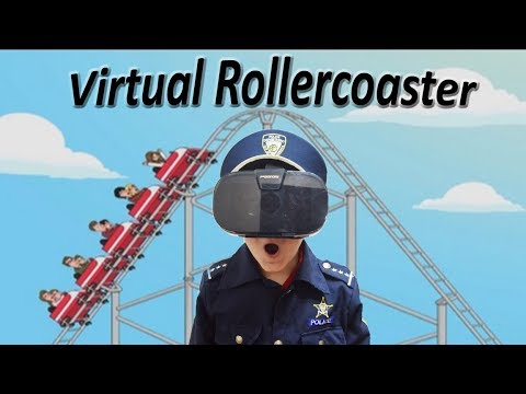 Officer Ryan Virtual Reality Rollercoaster with Smalls silly funny kids video