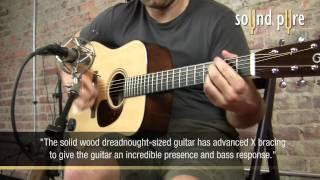 Santa Cruz DPW/M Acoustic Guitar Demo at Sound Pure