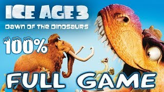 Ice Age 3: Dawn of the Dinosaurs FULL GAME Movie 100% Longplay (PS3, X360, Wii, PS2, PC)