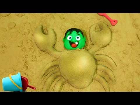 connectYoutube - Hulk Play in the Sand - Superhero Babies Cartoons Play Doh Stop Motion video