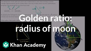 Golden ratio to find radius of moon