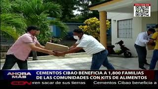 Cementos Cibao beneficia a 1,800 familias de comunidades de Santiago con kits de alimentos