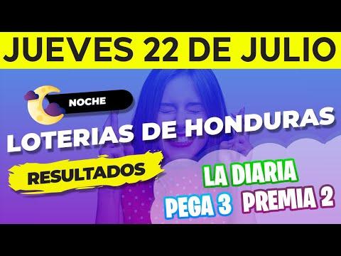 Sorteo 9PM Loto Honduras, La Diaria, Pega 3, Premia 2, 22 de Julio del 2021