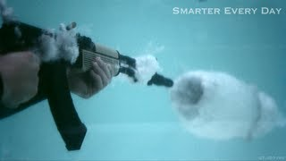 AK-47 Underwater at 27,450 frames per second (Part 2) - Smarter Every Day 95 - Smarter Every Day 97