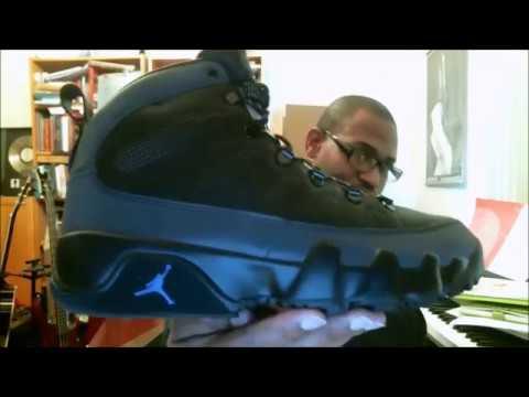 062d89a2e2aae6 Air Jordan 9 Retro Boot NRG Black Black-Concord AR4491-001