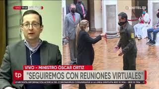 Ministro Órtiz informa de la presidenta Áñez permanece asintomática y trabajará virtualmente